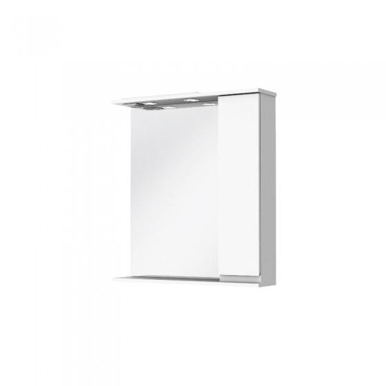 """Зеркало """"Moretti"""" 65 с шкафчиком белый глянец"""