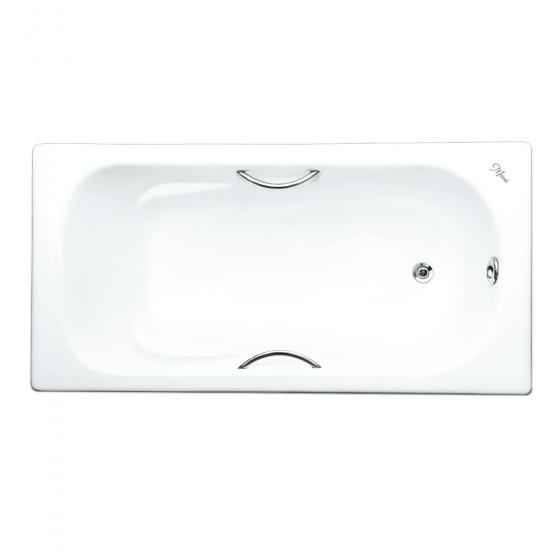 Ванна чугунная Maroni Colombo 1600x750 с хромированными ручками