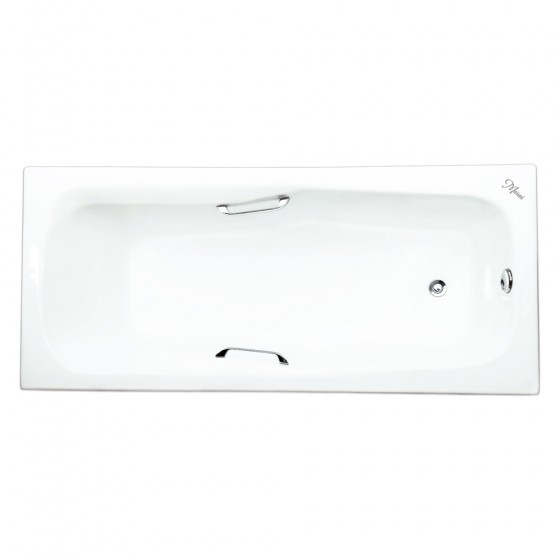 Ванна чугунная Maroni Giordano 1800x800 с хромированными ручками